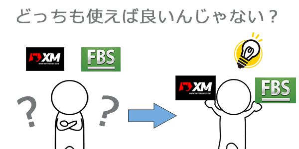 XMとFBSどっちも使うのがお得