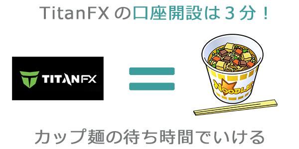 TitanFXの口座開設