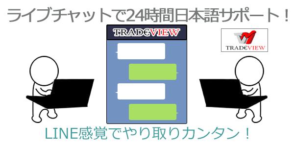 24時間の日本語サポート体制でライブチャットがおすすめ